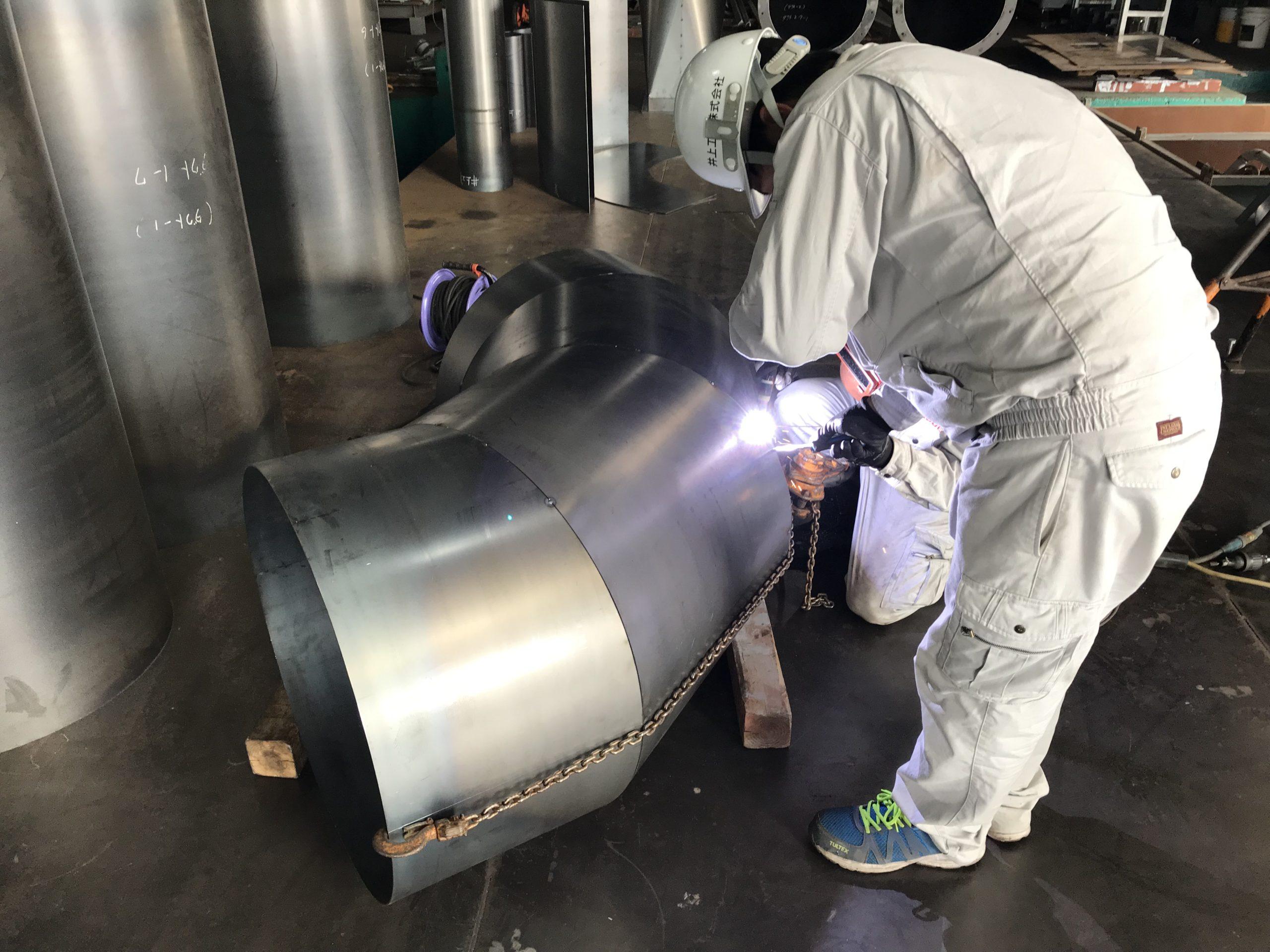 集塵機ダクト・エビ管製作